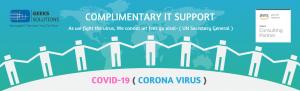 Helping hand against COVID-19 CORONAVIRUS